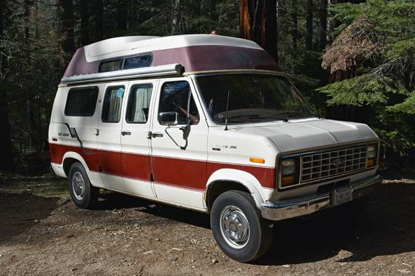 1987 ford e250 camper for sale in wawona california. Black Bedroom Furniture Sets. Home Design Ideas