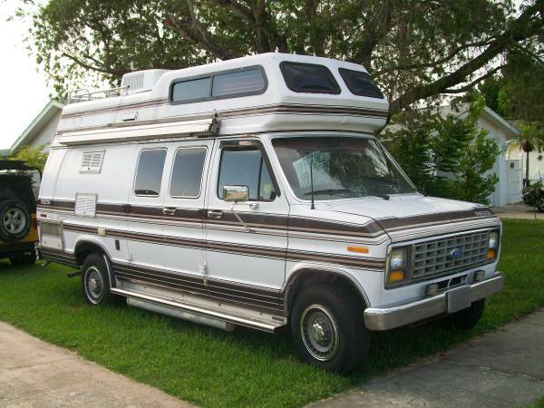 1990 ford e250 camper for sale in st petersburg florida. Black Bedroom Furniture Sets. Home Design Ideas